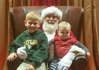Boys with Santa 2016
