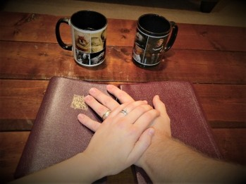 Bible and Hands picture